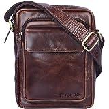 5208bd2f009fa STILORD  Jannis  Leder Umhängetasche Männer klein Vintage Messenger Bag  Herren-Tasche Tablettasche für