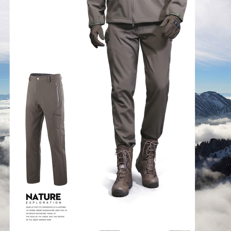 Hombre Softshell Fleece Forrado Impermeable Excursionismo Esquiar Calentar Invierno Al Aire Libre Pantalones