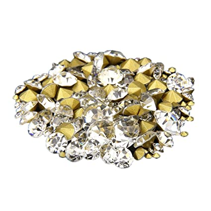 Nizi Jewelry Nail Rhinestones Crystal Clear Color Nail Art Strass Pointed  Stone DIY Craft Tiny Rhinestone c74a2871c141