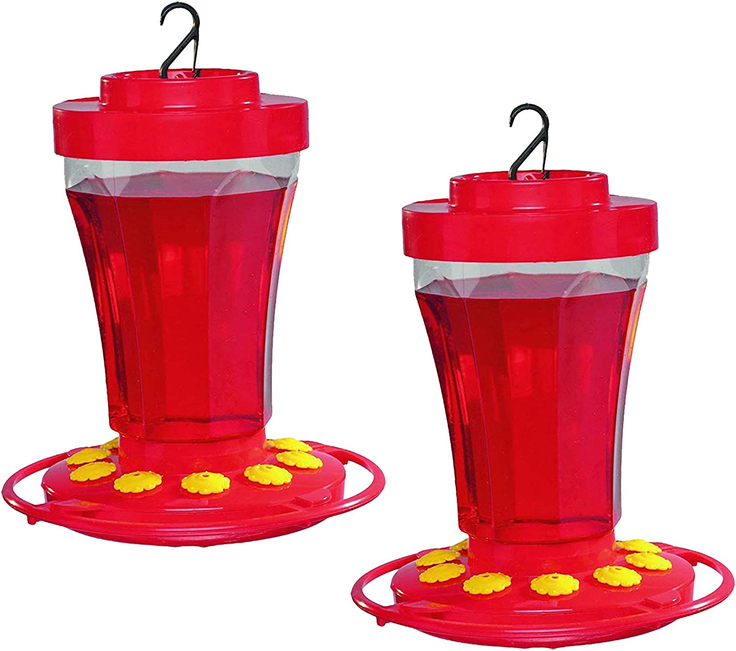 First Nature 3090 32-ounce Hummingbird Flower Feeder (2 Pack)