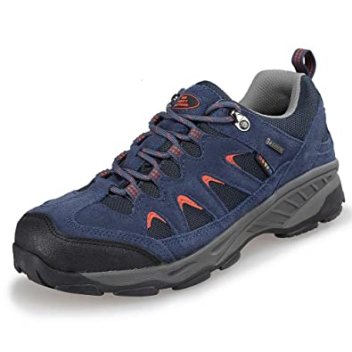 TFO Damen Mid Waterproof Trekkingschuhe & Wanderschuhe Atmungsaktive Bergschuhe & Outdoor Schuhe mit Anti-Rutsch-Sohle, Dunkel Grau, 36 EU