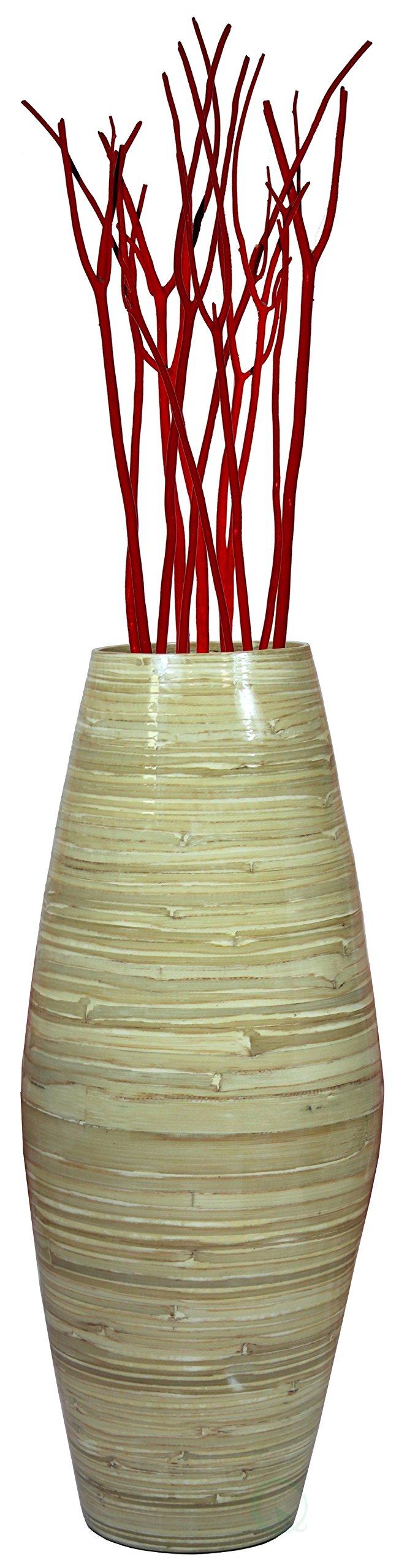 27.5'' Tall Bamboo Floor Vase (Natural)