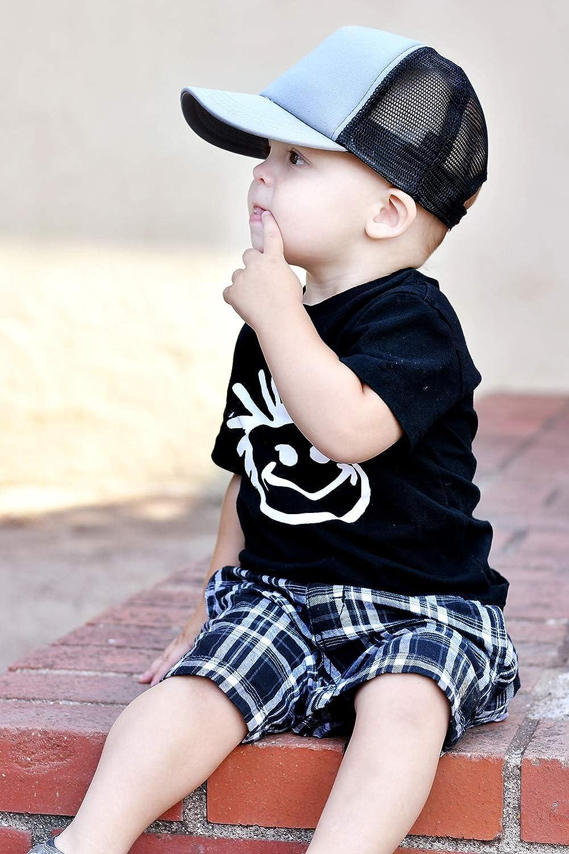 Knuckleheads Classic Logo Tshirt Black Grey Blue Childrens Casual Tshirt