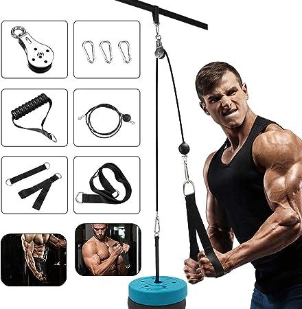 Elikliv Sistema de fijación de máquina de cable de polea, equipo de gimnasio en casa, accesorios de entrenamiento, sistema de polea de cable de ...