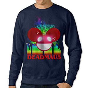 Show Time Men's Mau5 Radio Long Sleeve Hooded Navy XXL