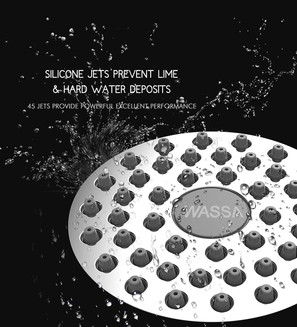 WASSA High-Pressure Shower Head Filter silicon jets