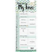 My Timer - Glamour your Time 238219 2019: TypoArt Familienplaner mit 2 breiten Spalten. Edler Familienkalender mit Ferienterminen und Vorschau bis März 2020.