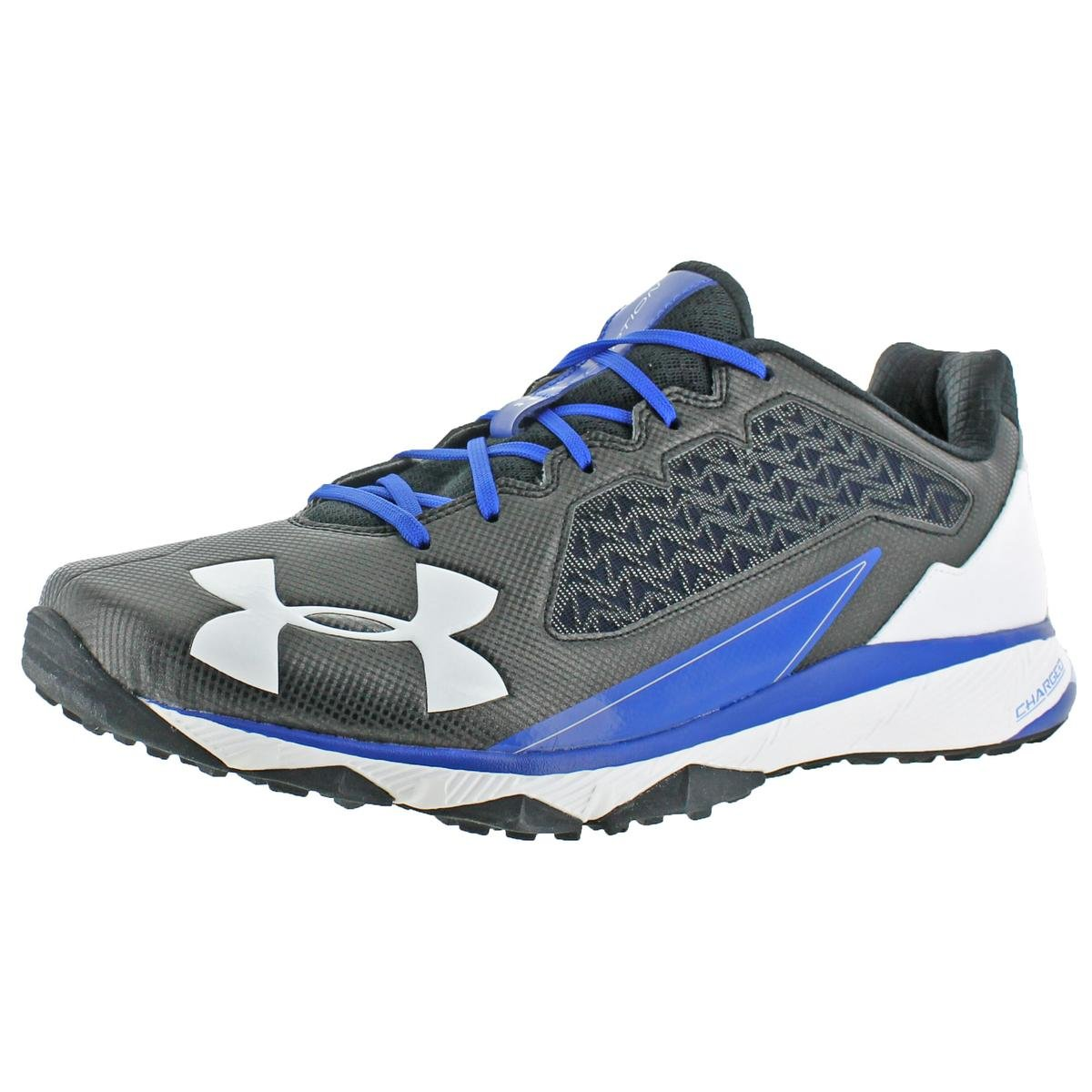 Under Armour Mens Deception Trainer Charged Baseball Shoes Black 12.5 Wide (E)