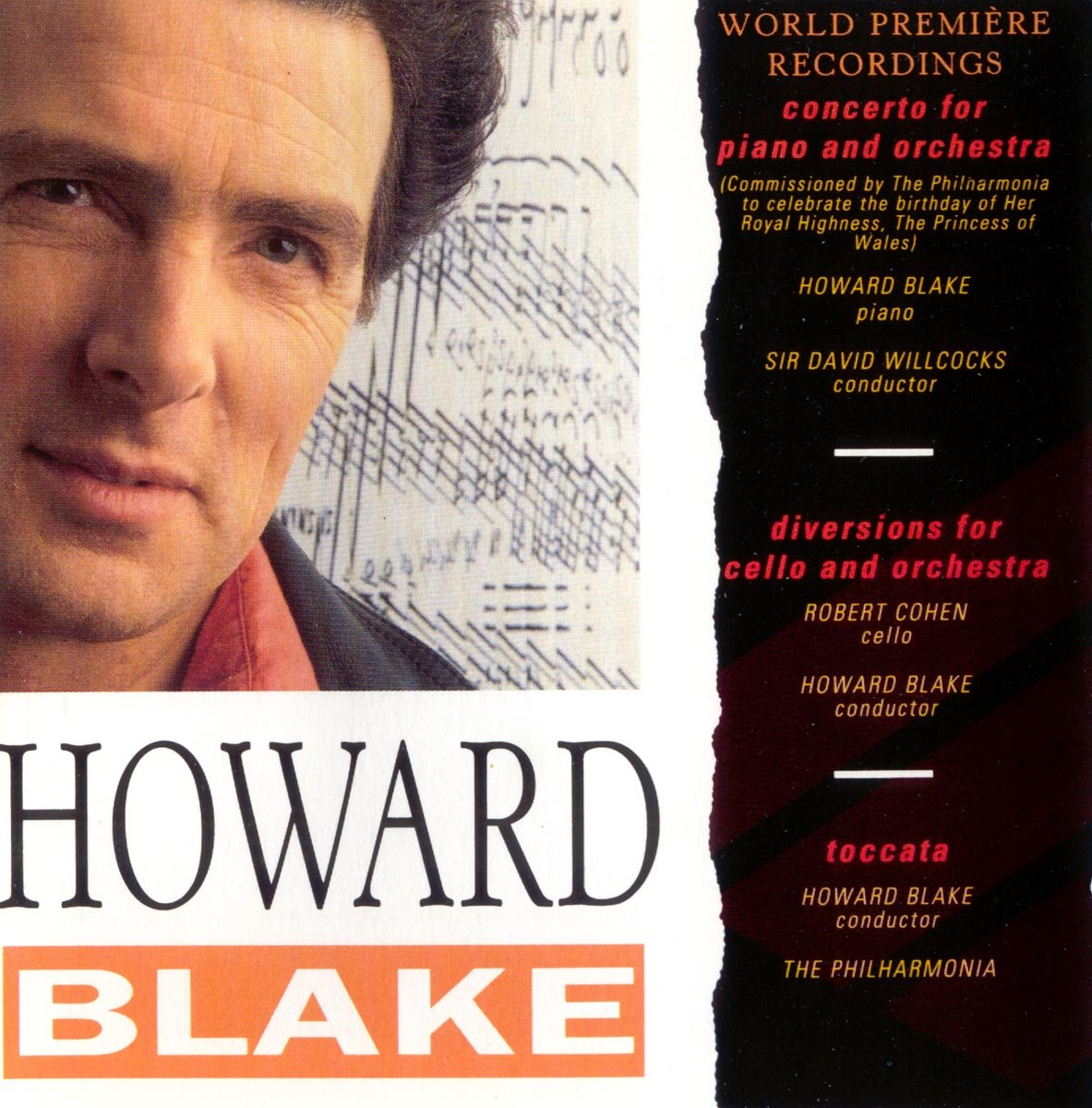 Howard Free shipping anywhere in the nation Blake. Denver Mall Concerto for Piano Orchestra; cel Diversions