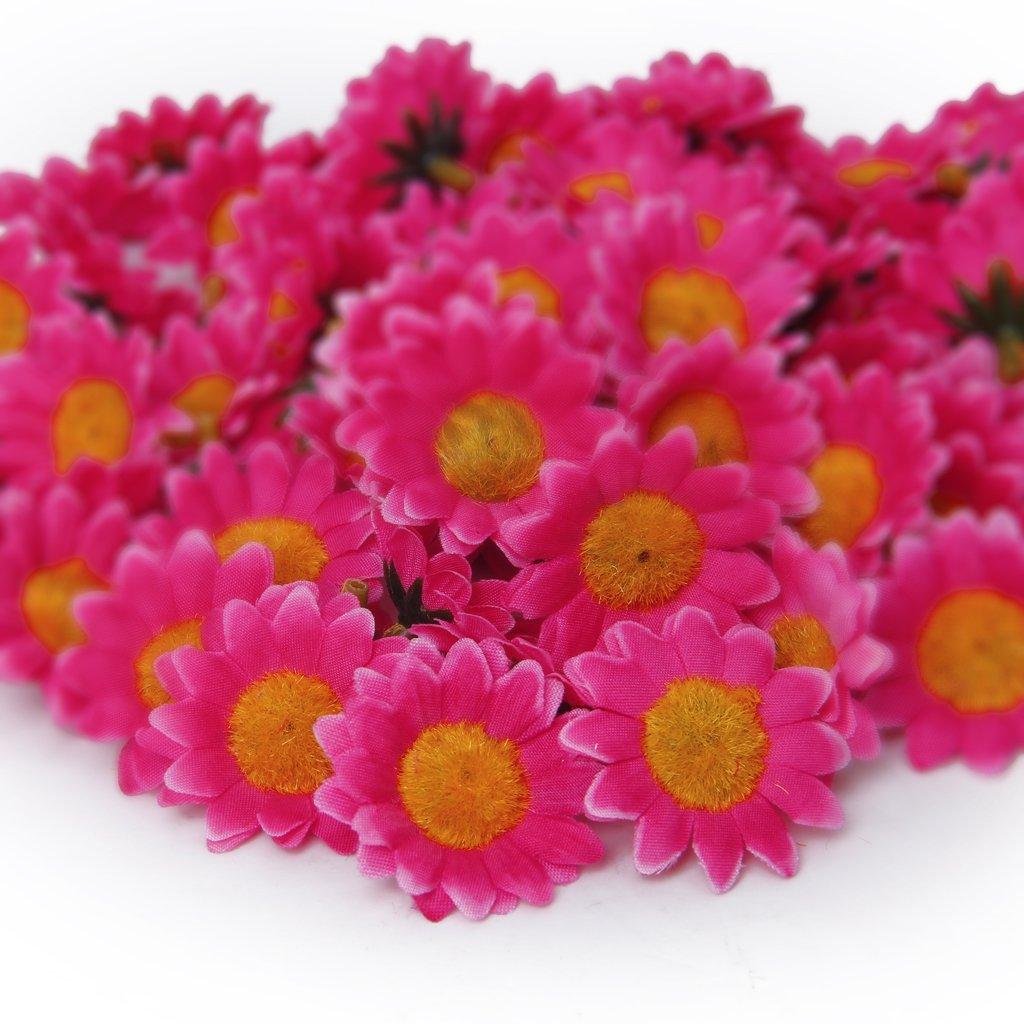 Amazon Approx 100pcs Artificial Gerbera Daisy Silk Flowers