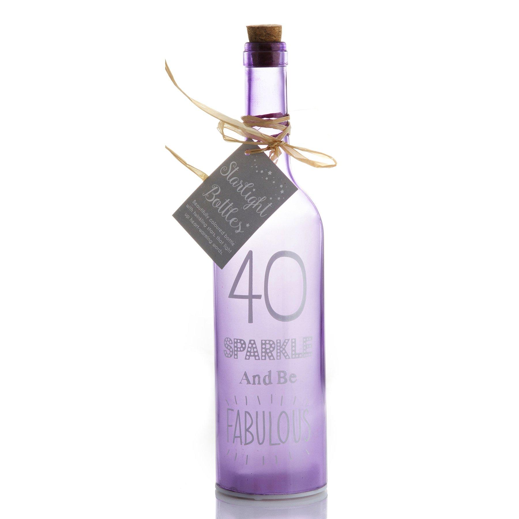 Premier Life Store Boxer 40 Birthday Starlight Bottle, Light Purple