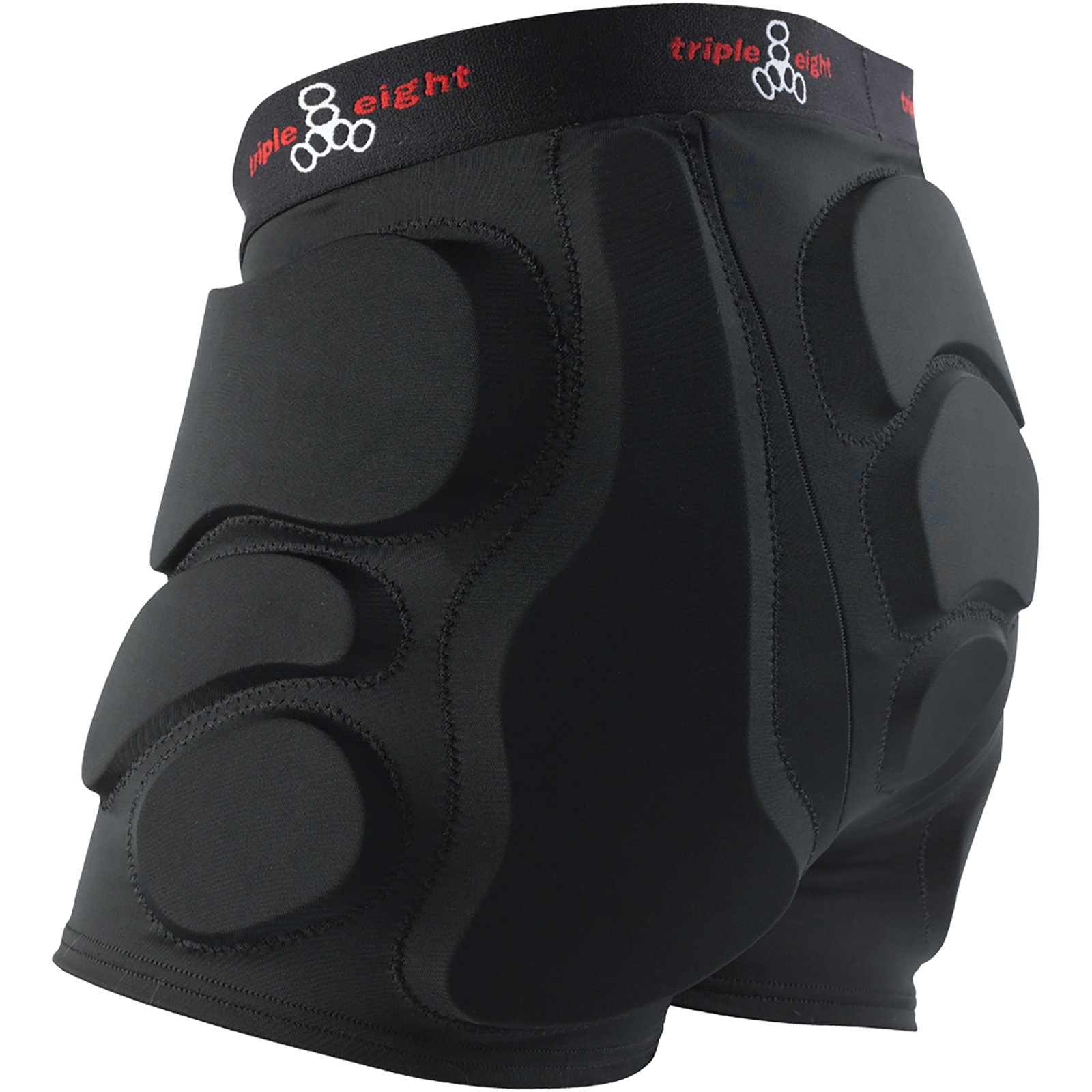 Triple 8 Roller Derby Bumsaver Black Hip Pads - X-Small/Youth