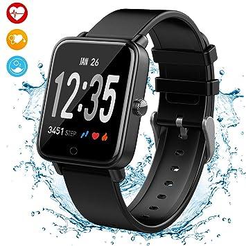 Montre Connectée, Adorishe Bracelet Connectée Fitness Tracker dActivité 2.5D Ecran Incurvé Cardiofréquencemètre Etanche IP67 ...