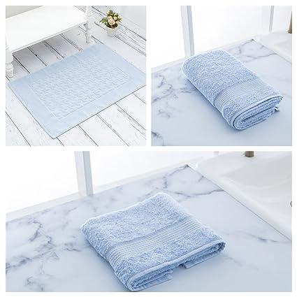 enghm – Toallas de algodón toallas de baño decorativo de 3 piezas, muy suave,