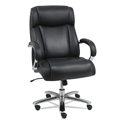 Attrayant Alera ALEMS4419 Maxxis Series Big And Tall Leather Chair, Black/Chrome