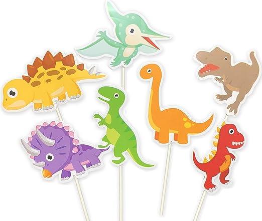 Amazon.com: Paquete de 35 adornos de dinosaurio para ...