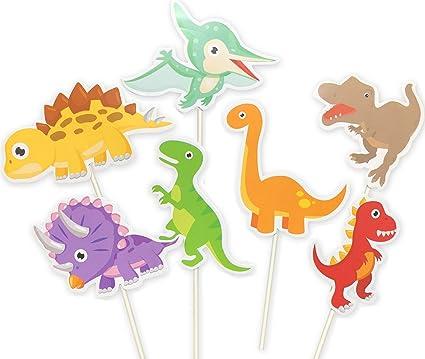 Amazon Com 35 Pack Cute Baby Dinosaur Cupcake Toppers Picks