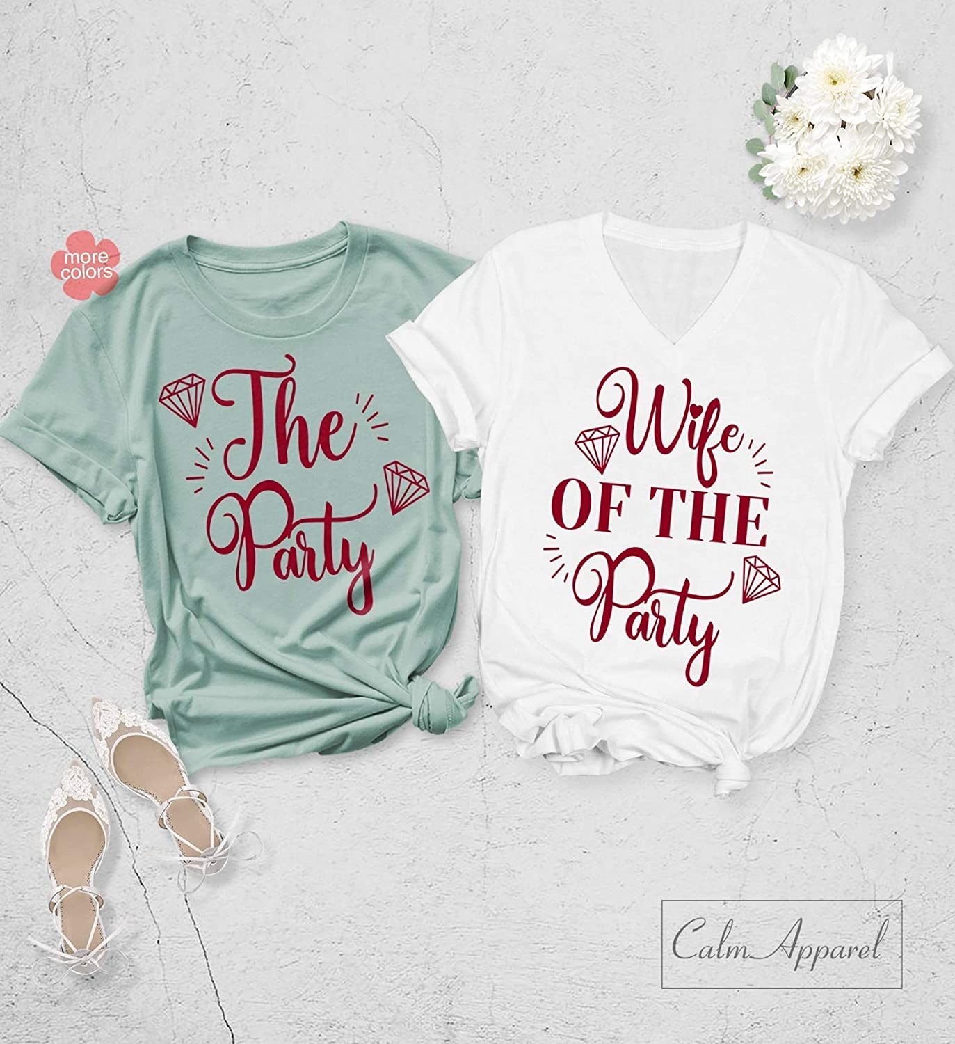 The Party Shirts Bachelorette Party Tanks Wife of The Party Shirts Bridal Party T Shirt Bridesmaid Shirts Gift Set