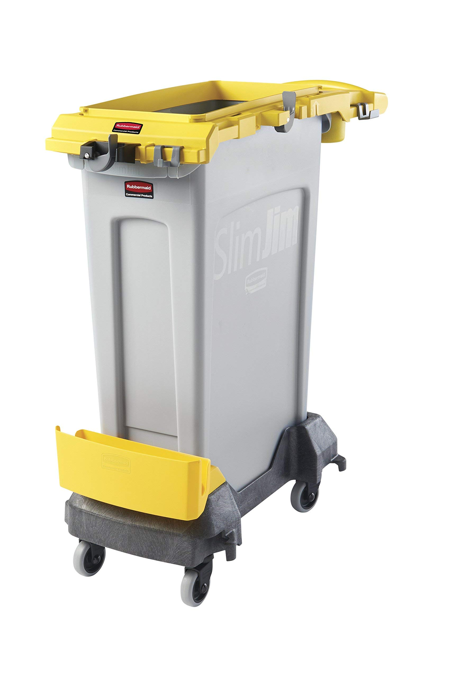 Rubbermaid Commercial Products 2032955 Slim Jim Rim caddy for 23 gal, Yellow (Renewed) by Rubbermaid Commercial Products