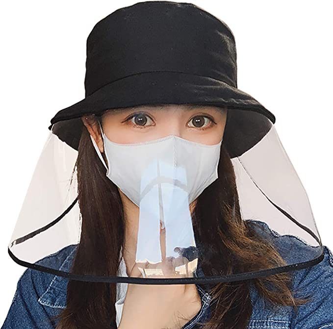 Anti-Wind Sand Adjustable Anti-Spitting Powder Safety Protect Full Face Shield Cover Full Face Cap Multifunctional Hat Droplets Spreading Prevent
