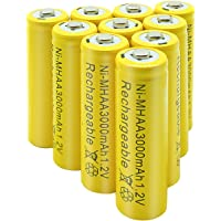 NiMH Rechargeable AA Battery High Capacity 1.2V Pre Charged Double-A Battery for Solar Lights, Battery String Lights, TV…