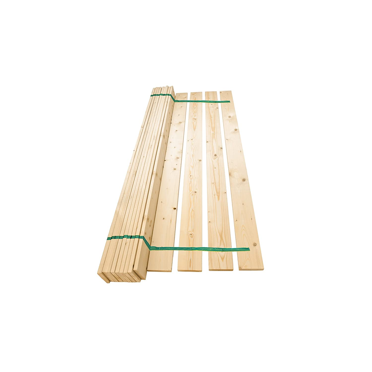 Replacement Flat Wood Bed Slats 4ft Small Double Solid Pine 120mm Wide