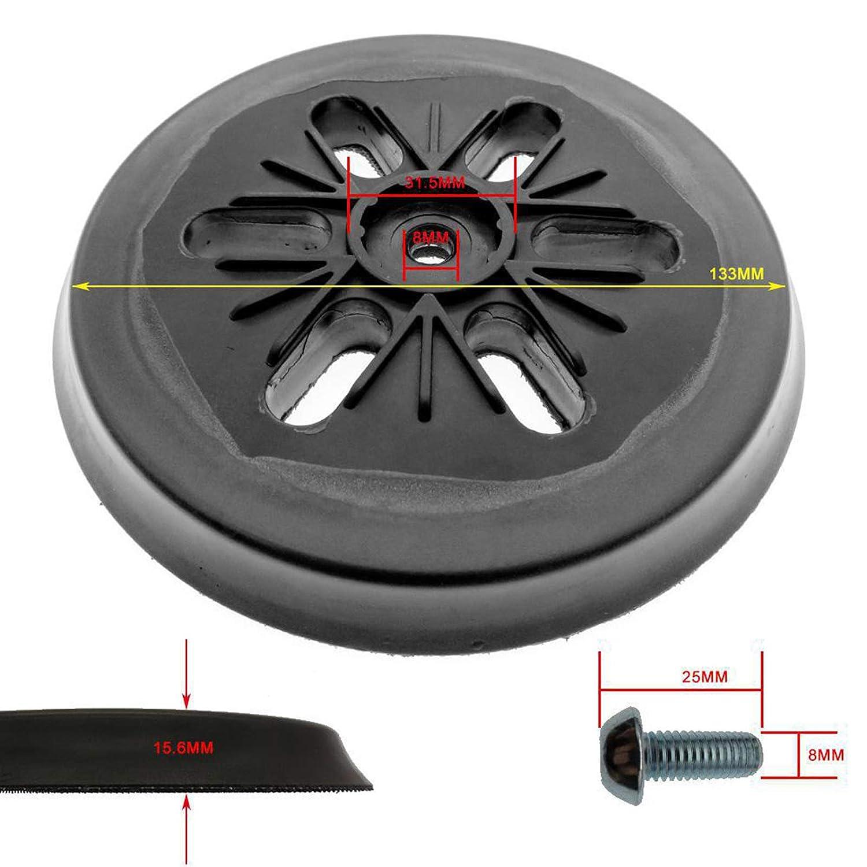 SHEAWA 6 150mm Sanding Backing Pad Hook Loop 6 Hole Interface Cushion Pad for Sanding Disc Power Orbital Grinder Tool