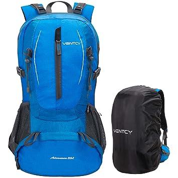 Fafada Mochila de Senderismo Montaña Hombre Mujer Mochila del Viaje Marcha Deporte Casual Escalada Camping Trekking con Cubierta de Lluvia Impermeable (Azul ...