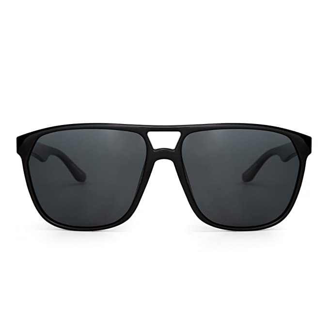 Gafas de Sol Aviador Polarizadas Plano Superior Ligero Peso de Espejo Anteojos Hombre Mujer DW9rzkMNL