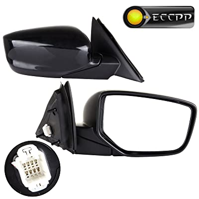 ECCPP Towing Mirror Replacement fit for 2008-2012 Honda Accord Sedan Power-Adjusting Manul-Folding Right Passenger Side Mirror: Automotive