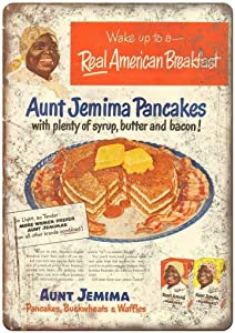 Aunt Jemima Pancake Waffle Mix 8x12 Inches Retro Vintage Decor Sign Metal Tin Sign Home Bar Wall Decor JSBZ-0390