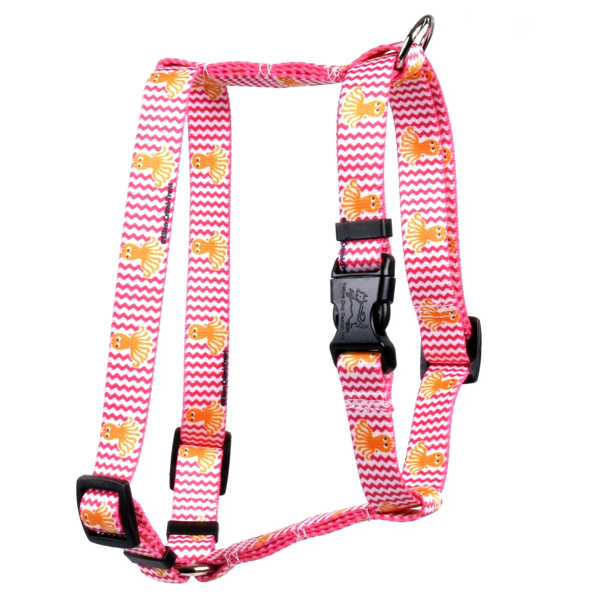 Large 20\ Yellow Dog Design Playful Octopus Roman Style H  Dog Harness-Large-1  and fits Chest 20 to 28