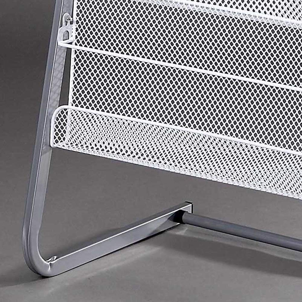 Magazine Rack Aluminum Alloy Brochure Display Rack Book Data Ladder Storage Rack - 4 Layers W63xH140cm by Amelie AI-Magazine organizer (Image #3)