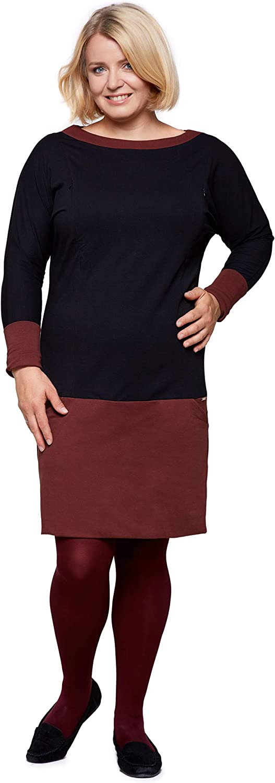 Modell: Andrea Sweatkleid Pulloverkleid Maternity /& Baby wear 2in1 Baumwollkleid Damenkleid gro/ße Gr/ö/ßen Umstandskleid Be Mama Stillkleid