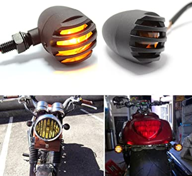 MOTORCYCLE//BIKE TURN SIGNAL INDICATOR LIGHT AMBER FOR HARLEY CHOPPER BOBBER CAFE