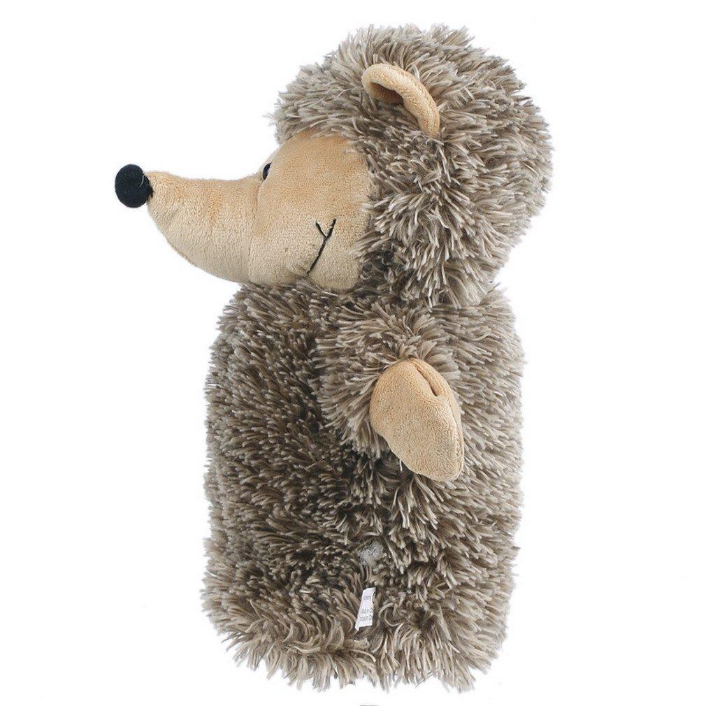 Bigood Kid Plush Velour Hand Puppets Farm Animals Zoo Learning Aid Hedgehog