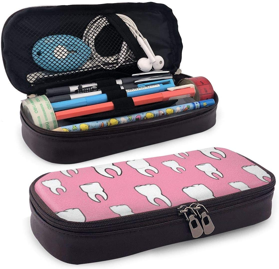 Estuche de lápices Dentista dental Bolsa de almacenamiento Organizador de monedero Bolsa de cosméticos Bolsas de viaje con cremallera Funda de bolsa estacionaria multifuncional para School-3G4