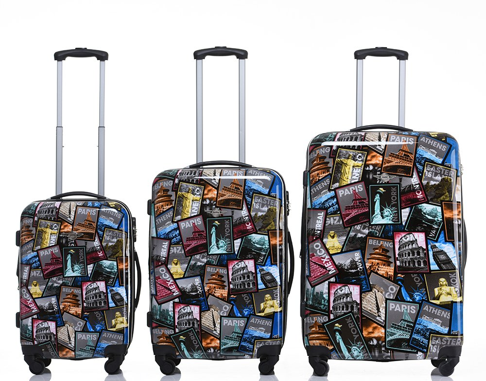 Rivolite New 3 Piece Luggage Set Luggage Set 20''/24''/28'' Suitcase (Tourist Attraction) by Rivolite