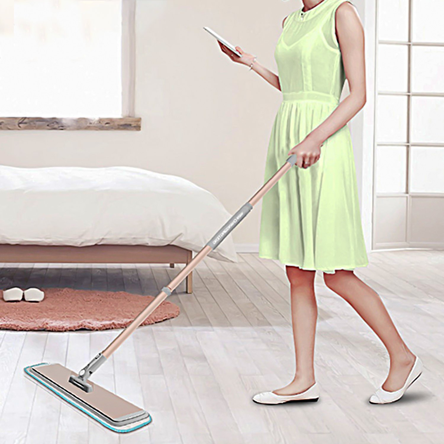 FRMARCH 18'' Professional Microfiber Mop 360 Flat Mop for Floor Cleaning, Wet and Dry Floor Cleaning Mops for Hardwood, Wood, Tile, Walls,Commercial Grade Metal Handle/Head,All in 3 mop pad by FRMARCH (Image #7)