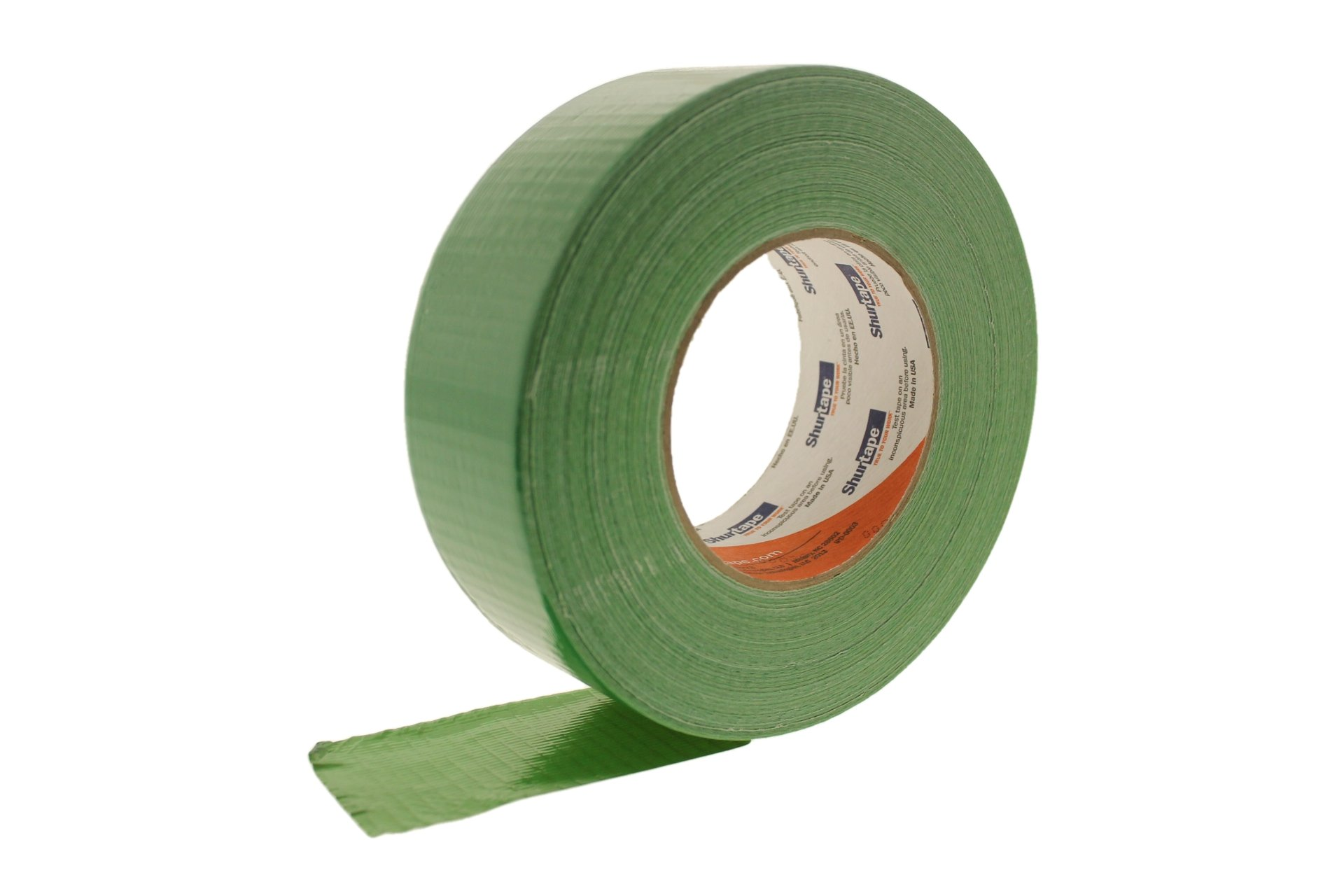 PC-600 Shurtape 2'' Medium Grass Green 9 Mil Cloth Duct Tape Waterproof Hand Tearable UV Resistant High Visibility Industrial Grade Heavy Duty Pro Colored Duct Tape Colors USA Made 60yd