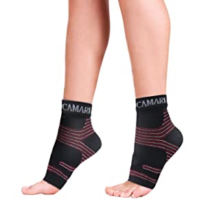 9aa39436dd Camari Gear Sports Plantar Fasciitis Socks (1 PAIR) Ð Premium Compression  Foot Care sleeves For Men and Women – Heel Arch Support – Ankle Brace Sock  ...