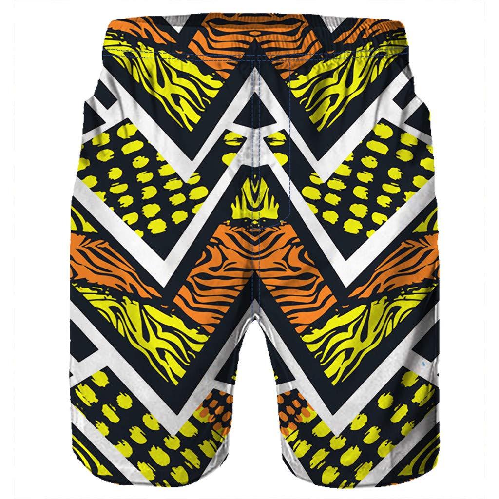 NUWFOR Men Casual 3D Graffiti Printed Beach Work Casual Men Short Trouser Shorts Pants(Z5-Multi Color,US:S Waist26.0-29.9'') by NUWFOR (Image #4)