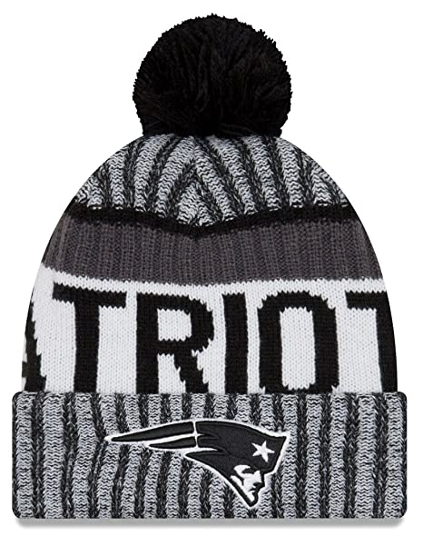 cea65c9e9e8 NFL New England Patriots Adult Men Cold Weather Black   White Sport Knit  Beanie