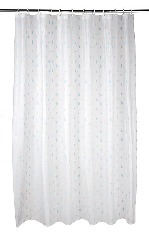 Beldray LA041692RAQ Raindrops Shower Curtain with Hooks, 180 x ...