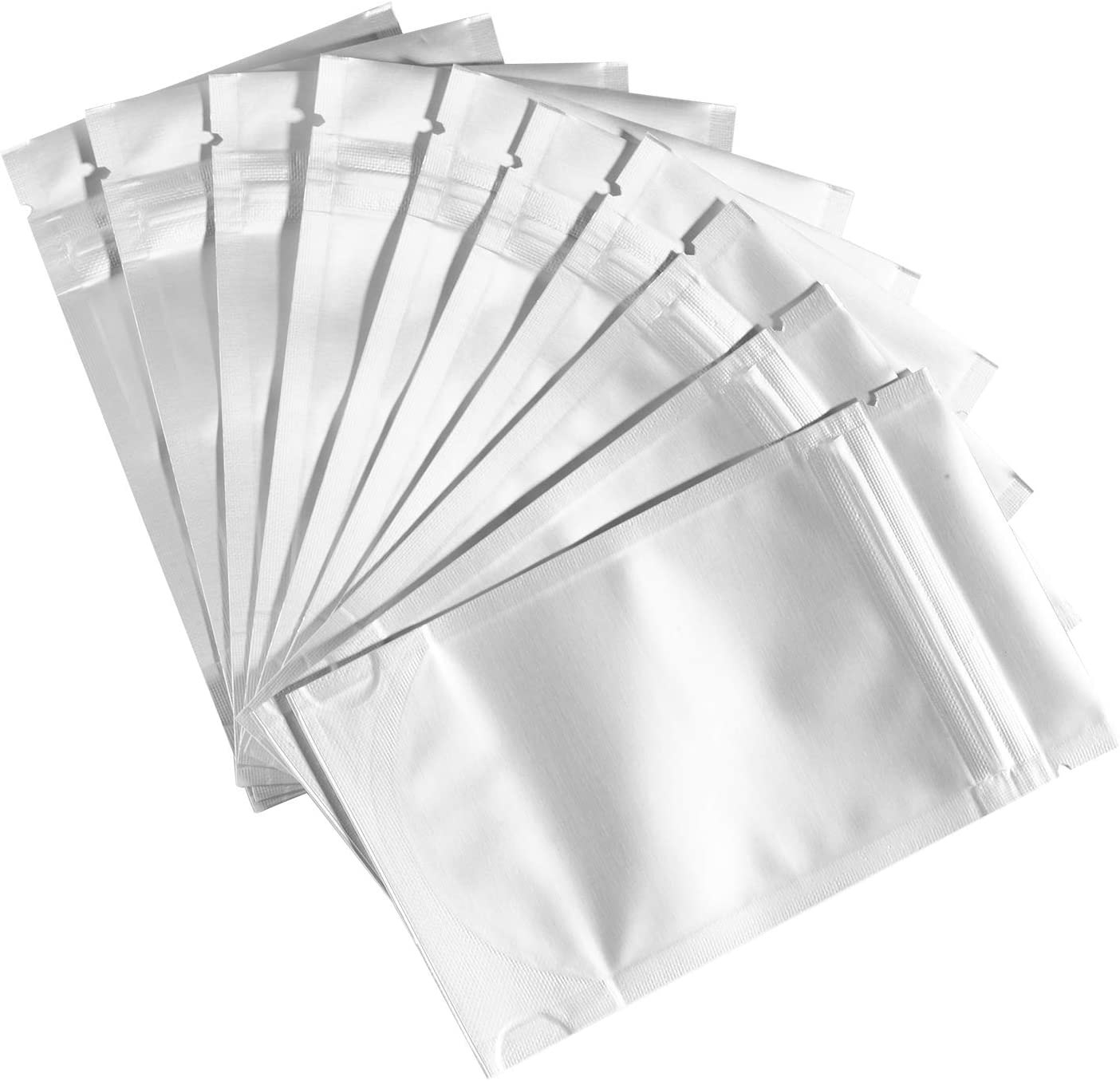 100PCS/PACK 3X5inch Resealable Stand up Mylar Ziplock Bags for Food Storage, Smell Proof Packaging Bags with Foil Aluminum, Heat Sealable Pouch Bag.