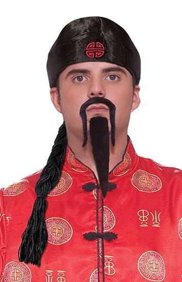 Amazon.com Forum Novelties Menu0027s Chinese Man Pig Tail Hat Costume Accessory Black One Size Clothing  sc 1 st  Amazon.com & Amazon.com: Forum Novelties Menu0027s Chinese Man Pig Tail Hat Costume ...