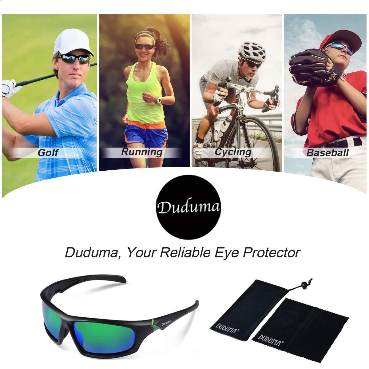 db714612807 Duduma Tr601 Polarized Sports Sunglasses for Baseball Cycling Fishing Golf  Superlight Frame (639 Black matte frame with green lens)  Amazon.co.uk   Sports   ...