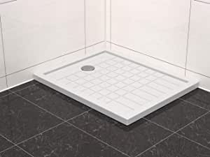 Plato de ducha (acrílico, 100 x 80 cm, incluye desagüe): Amazon.es ...