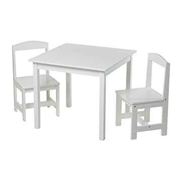 Target Marketing Systems 91120wht Hayden 3 Pc Kids Table And Chairs White