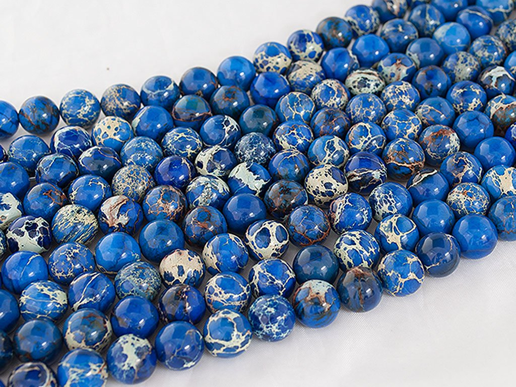 Beads Ok Impression Jasper, Genuine, Natural, Plain Round Semi-Precious Gemstone Bead DIY Impression Jaspe Ronde 4mm V/éritable Perle en Pierre Semi-pr/écieuse Naturel Environ 38cm Un Fil.